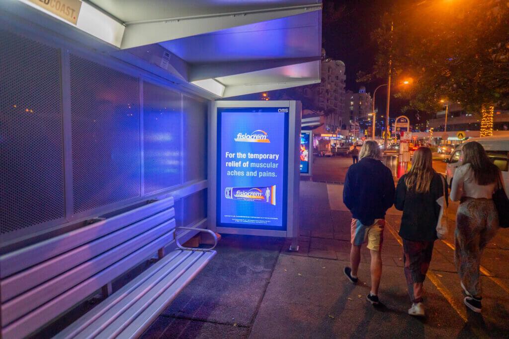 bus shelter advertising at broachbeach