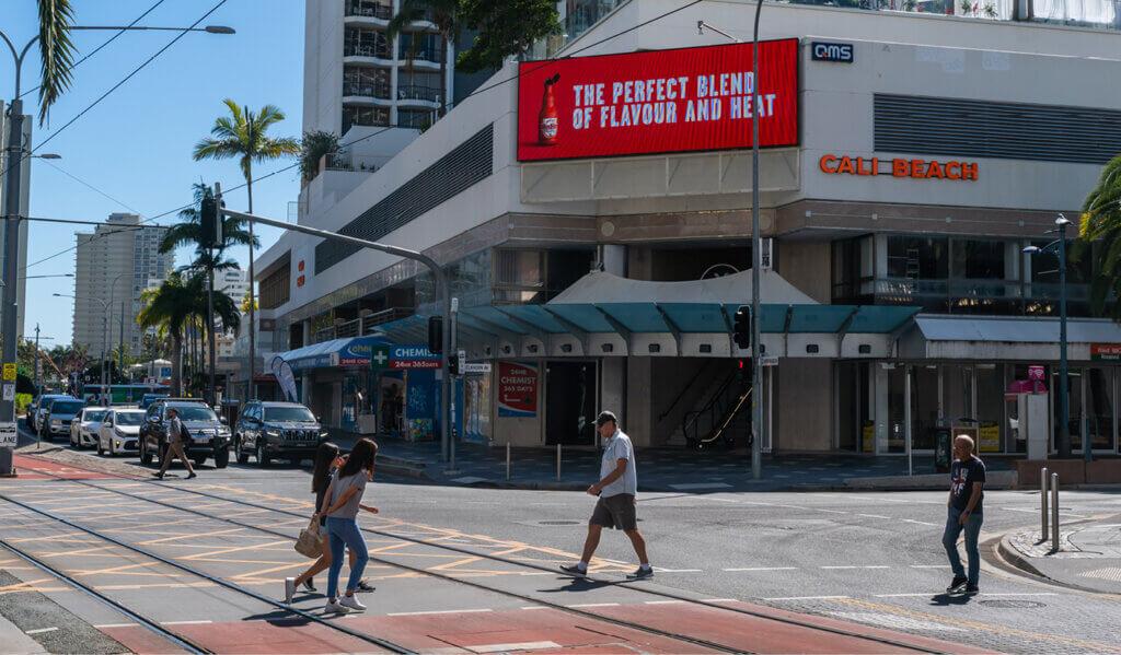 billboard at surfers paradise
