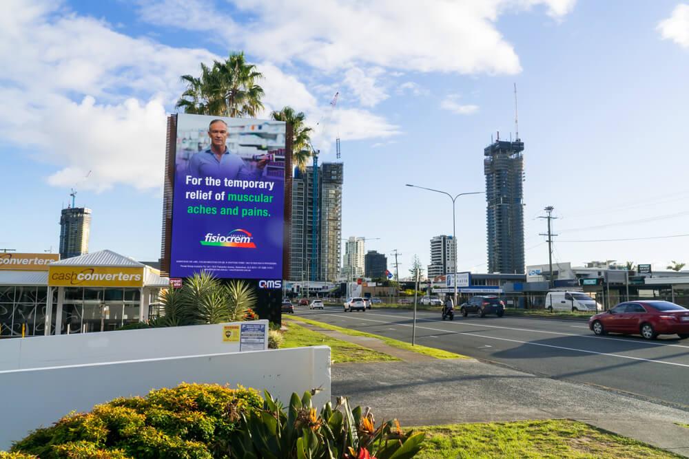 billboard Mermaid beach, gold coast highway